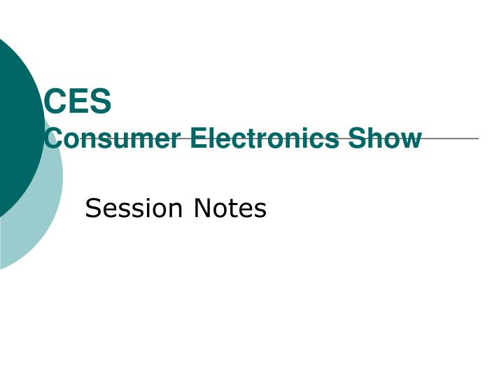 ces consumer electronics show n.