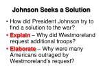 johnson seeks a solution