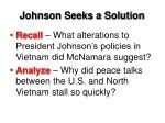johnson seeks a solution1
