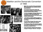 rebellion and the democratic convention of 1968