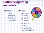 gather supporting materials