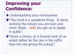 improving your confidence