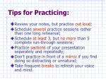 tips for practicing