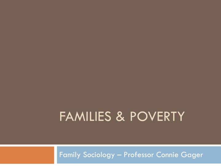 families poverty n.