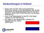 beobachtungen in holland