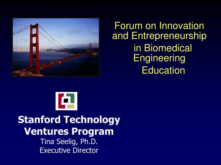 stanford technology ventures program tina seelig ph d executive director n.