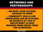 networks and partnerships