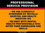 professional service provision