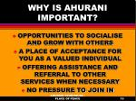 why is ahurani important