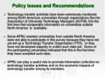 policy issues and recommendations