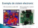 exemplu de sistem electronic