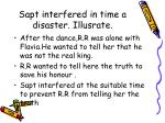 sapt interfered in time a disaster illusrate