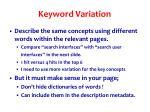 keyword variation