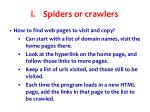 spiders or crawlers