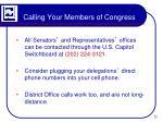 calling your members of congress