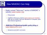 how naadac can help
