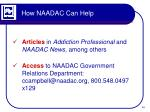 how naadac can help2