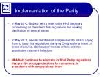 implementation of the parity