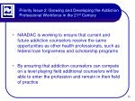 priority issue 2 growing and developing the addiction professional workforce in the 21 st century3