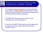 priority issue 3 increasing federal and state funding levels for addiction treatment