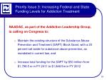 priority issue 3 increasing federal and state funding levels for addiction treatment2