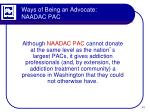 ways of being an advocate naadac pac2
