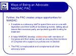 ways of being an advocate naadac pac3