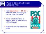 ways of being an advocate naadac pac4
