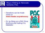 ways of being an advocate naadac pac5