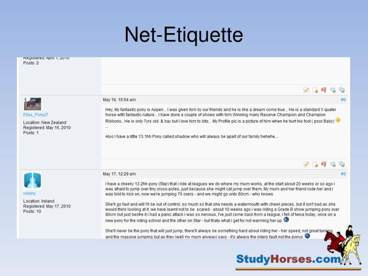 Net-Etiquette