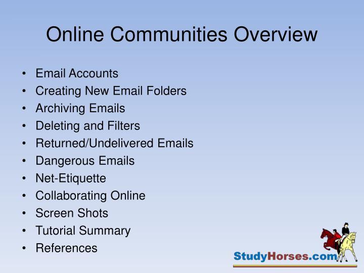 Online communities overview