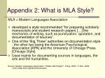 appendix 2 what is mla style
