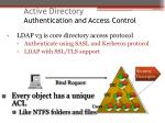 active directory authentication and access control