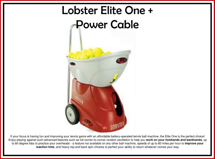 lobster elite one power cable n.