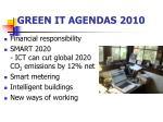 green it agendas 2010