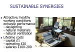 sustainable synergies