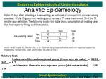 analytic epidemiology15