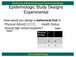 epidemiologic study designs experimental