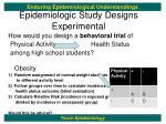 epidemiologic study designs experimental1