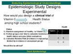 epidemiologic study designs experimental2