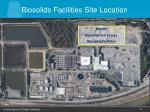 biosolids facilities site location