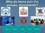 why do teens join the groups movements