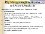 key management specification and related attacks 1