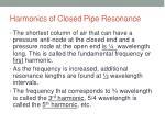 harmonics of closed pipe resonance