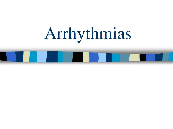arrhythmias n.
