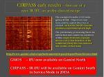 cirpass early results first use of a near ir ifu on an 8m class telescope