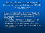 situating student counselling and career development services sccd in the academy