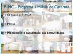p1mc programa 1 milh o de cisternas