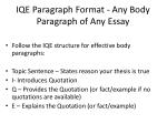 iqe paragraph format any body paragraph of any essay