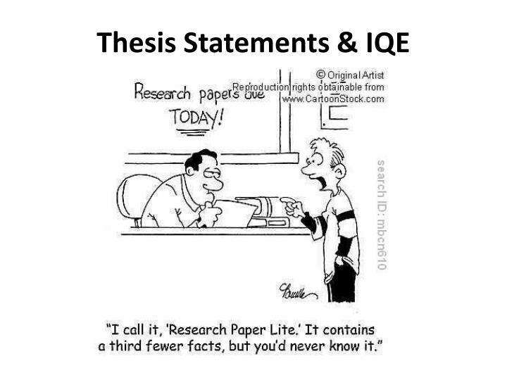 thesis statements iqe n.